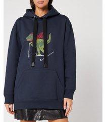 coach 1941 women's rexy signature c hoodie - blue - s