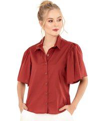 camisa alexa rojo ragged pf11112217