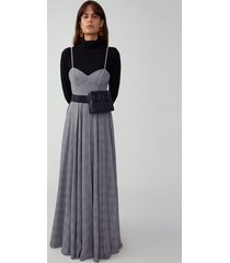 grey corset maxi dress