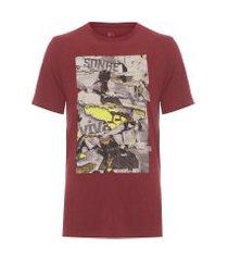 camiseta masculina estampada sonhe - vermelho