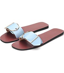 azul claro one correa de hebilla con pasador simple zapatillas