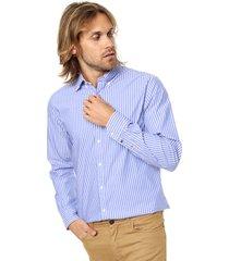 camisa celeste tommy hilfiger corte new york fit