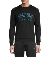 boss hugo boss men's salbo logo sweatshirt - black - size m