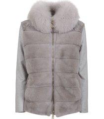 gray cashmere coat