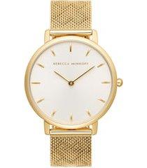 women's rebecca minkoff major mesh hearts strap watch, 35mm