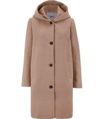 cappotto corto in simil lana con cappuccio (marrone) - bpc bonprix collection