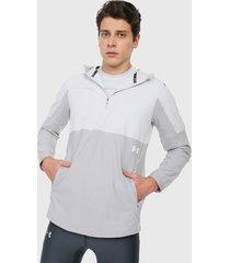 chaqueta gris-blanco under armour vanish hybrid