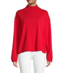 wool & cashmere mockneck sweater