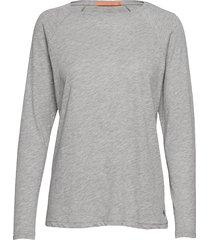 longsleeved t-shirt w. raglan sleev stickad tröja grå coster copenhagen