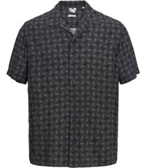 jack & jones men's all over printed short sleeve shirt