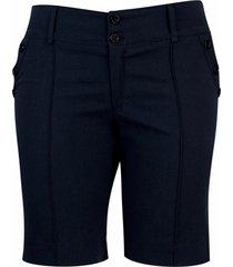 shorts pau a pique de sarja básico azul marinho
