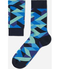 calzedonia classic patterned ankle socks man blue size tu