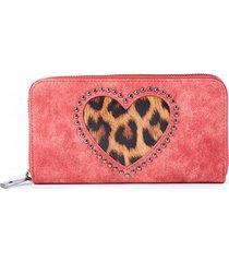 billetera leopard heart rojo humana
