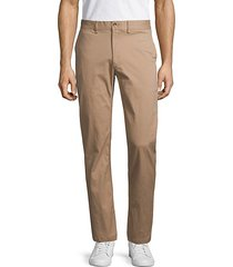 script stretch cotton chino pants