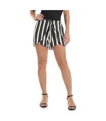 shorts de viscose feminino rovitex preto