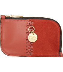 women's see by chloe tilda leather card case -