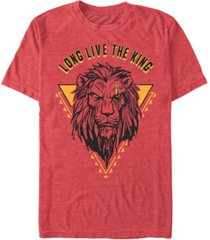 disney men's the lion king live action scar geometric triangle short sleeve t-shirt
