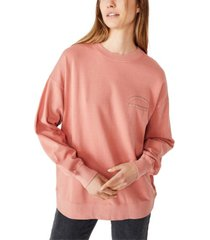 cotton on lulu graphic oversized crew sweatshirt