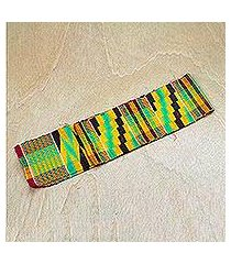 rayon and cotton blend kente scarf, 'african colors' (ghana)