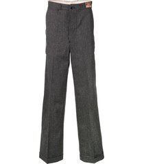 fake alpha vintage 1940s tailored long trousers - grey