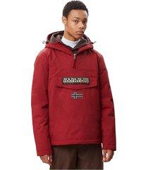 napapijri rainforest winter np000gnj jacket and jackets men burgundy