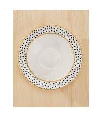 amaro feminino conjunto c/ 6 pratos fundo polka dots, polka dots
