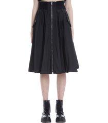 red valentino skirt in black nylon