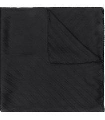 givenchy chain logo silk scarf - black