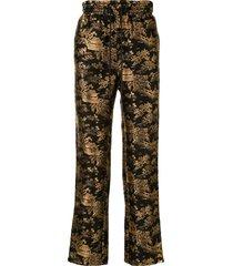 doublet muay thai reversible trousers - black