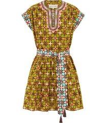azure tile print ashley b dress