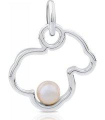 dije silueta de plata con perla 713564510
