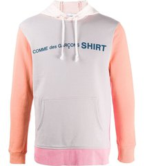 comme des garçons shirt colour-block cotton hoodie