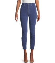 frame women's cropped high-rise jeans - twilight - size 26 (2-4)