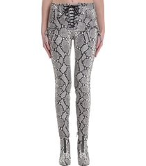ben taverniti unravel project pants in animalier leather
