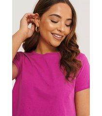 trendyol croppad t-shirt - purple
