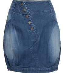 gonna di jeans con bottoni (blu) - rainbow