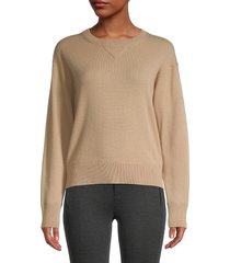 vince women's wool & cashmere sweater - heather charcoal - size m
