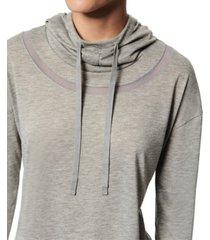 marc new york funnel-neck active hoodie