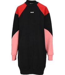 msgm colour block sweatshirt dress