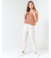 pantalón relax cintura ajustable
