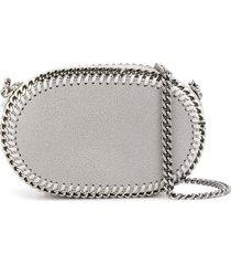 stella mccartney oval falabella crossbody bag - grey