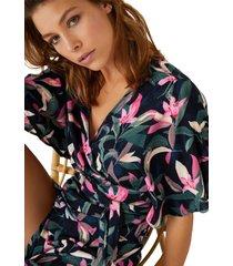 top cruzado estampado de flores multicolor women secret 554542090xl