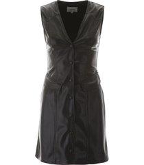 nanushka faux leather mini dress