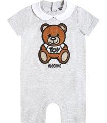 moschino grey romper for babykids witth teddy bear