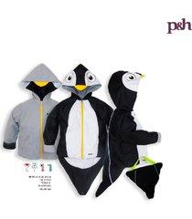 chaqueta impermeable pingüino negro