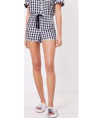 loft gingham pajama shorts