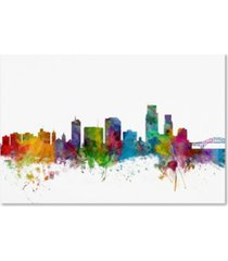 "michael tompsett 'corpus christie texas skyline' canvas art - 12"" x 19"""