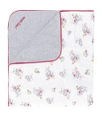 monnalisa cobertor com estampa - branco