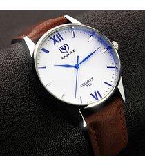yazole maschile 318 orologi luminosi di lusso in pelle romana numero di moda orologio al quarzo orologio maschile