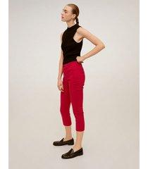 katoenen straight-fit broek